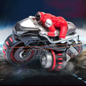 Wholesale fashion RC Car GHz Control Motorcycle V Battery Rotate Trick High Speed Remote Control Stunt Motorcycle Dec20
