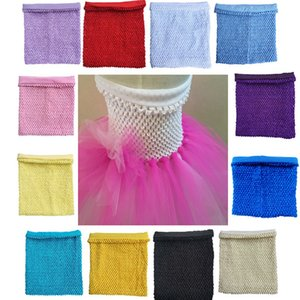 1pc 25x30cm 12inch with Lined Crochet Tutu Tube Adult Chest Wrap Spool Tutu Soft Wedding Birthday Party Kids Favors Baby Shower