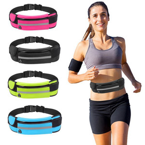 Wholesale Universal inch Waterproof Sport GYM Running Waist Belt Pack Phone Case Bag Waterproof Armband for iPhone X s Plus