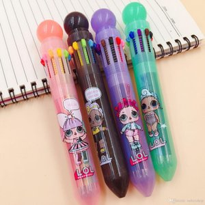 Wholesale new cartoon doll Ball-point Pen Ball Pen for Kids Gift Student Awards Supplies Free Shipping