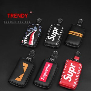 Wholesale Car Supplies Tredny Leather Remote Control Key Case Leather Key Cover Key Ring Fit All Cars