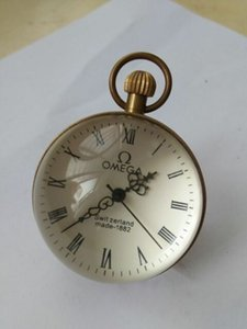 Wholesale CHINESE vintage BRASS GLASS pocket watch BALL clock