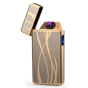 Plasma arc Lighter Double arcs Electrical USB Rechargeable windproof cigarette Lighter touch sensitive control ignition power display C03400