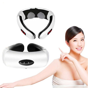 New Electric Pulse Back and Neck Massager Far Infrared Heating Tool Health Care Relaxation Intelligent Cervical Massager