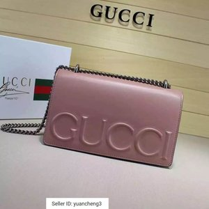 Wholesale yuancheng3 New big one shoulder chain handbag nude powder Women Handbags Bags Top Handles Shoulder Bags Totes Evening Cross Body Bag