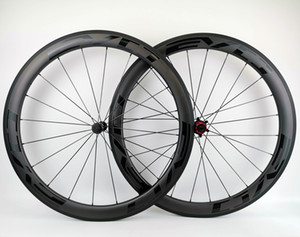 Wholesale Full carbon wheels 50mm depth 25mm width carbon wheelset clincher tubular road carbon bike wheelset with EVO black decals