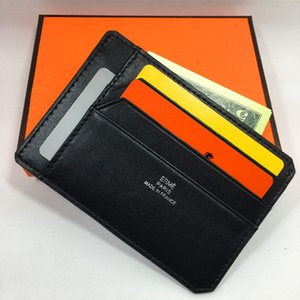 Rfid Blocking Credit Card Holder Driving license wallet Black Genuine Leather Bank ID Card Case Business Men Slim Pocket Bag Purse Pouch