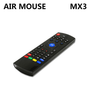 Wholesale Genuine SZ GHz MX3 Air Mouse G Wireless Air Fly Keyboard in1 QWERTY GYRO Sensing Remote IR Learning For Android