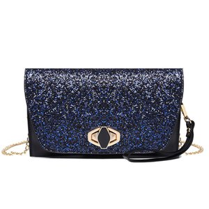 Wholesale designer sequin evening clutch bags women s small flap party glitter clutch purse bag ladies with chain shoulder and wrist strap