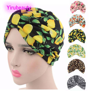 New idyllic printed elastic cotton Indian hat TURBAN parent-child hat European and American popular turban hat