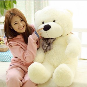 Wholesale Large Size cm Stuffed Teddy Bear Plush Toy Big Embrace Bear Doll Lovers Christmas Gifts Birthday gift SH190913