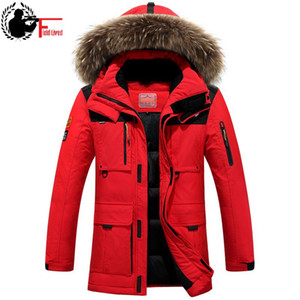 Wholesale Winter Jacket Mens Windbreaker Anorak Quality White Duck Down Jacket Fur Hood Removable Long Parka Male Coat Warm Thick Overcoat