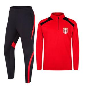 Serbia Soccer Team Men's Breathable Jacket Football Training Clothes Basketball Soccer Running Sports Wear Golf Casual sportWear