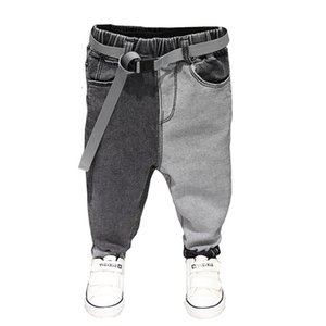 Spring Summer Baby Boys Jeans Pants Kids Clothes Cotton Casual Children Trousers Teenager Denim Boys Clothes 2-7Year T191016 on Sale
