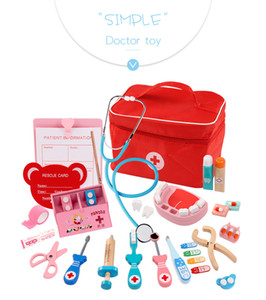 Wholesale Children's play house doctor's toy set Puzzle simulation bag medicine box Simulated nurse injection medical kit Children's toy gift