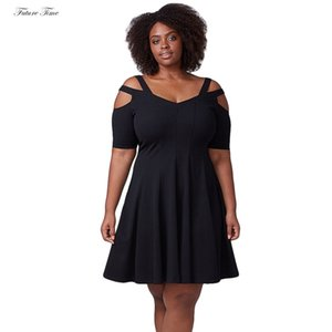 Wholesale Dress Women Sexy Summer Dresses Plus Size Vestidos Solid Color Strap Beach Dress Midi Short Sleeve Spring Fat C1728