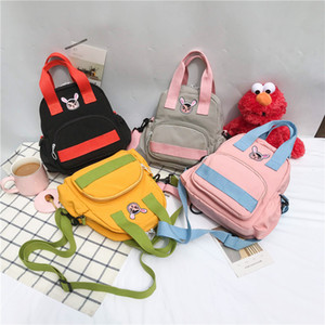 Wholesale Cute Rabbit embroidery Backpack for girls school bags totes College Women Casual shoulder packs Mochilas Female Panelled Backbag156499768906