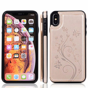 Wholesale Luxury PU Leather Cell Phone Back Cover with Credit Card Slots For iPhone Xs Max Xr S10 Lite Plus Wallet Cases