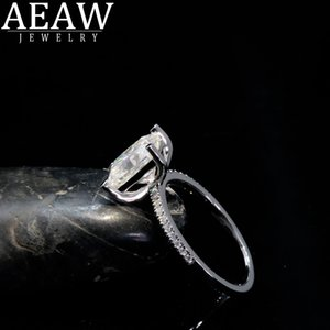 AEAW 1.0 Radiant Cut Moissanite Engagement Ring 14K White Gold Moissanite Bridal Ring Promise Ring Anniversary Ring on Sale