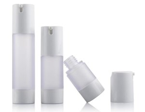 30pcs 15ml  30ml   50ml vacuum refillable lotion bottle,15ml frosted AS+PP plastic airless pump bottle Free shipping