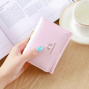 Wholesale Women s Wallet Short Paragraph Casual Simple Mini Student Cute Animal Kitten Wallet Female Coin Purse Coin Card Package