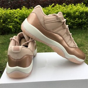 AH7860-105 11S Low Low GS Rose Gold Metallic Women Basketball Shoes Real carbon Fiber Youth Lady Outdoor Sports shoes on Sale