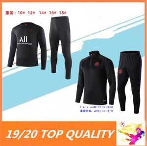 Wholesale KIDS Psg soccer jogging tracksuit paris Jordam X jacket MBAPPE POGBA Survetement child football training suit
