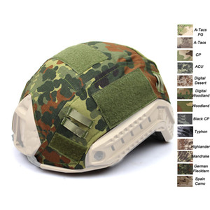 Outdoor Sports Equipment Airsoft Paintball Shooting Gear Tactical Helmet Accessory Muti Colors Camouflage Fast Helmet Cover on Sale
