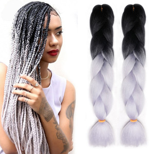 Wholesale Ombre Xpression Braiding Synthetic Crochet Hair Extensions Two Tone Kanekalon Braiding Hair Best Quality Synthetic Braiding Hair