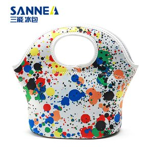 Wholesale Outlet Waterproof Warm Heat Insulation Neoprene Lunch Bag Container Thicken kids Baby Thermal Lunch Hand Bag