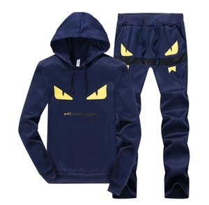 NEW2020 Free Shipping New Mens Designer Little Monster Tracksuits Men's Hooded Suit Casual Sports Hooded Sweater Long Sleeve Plus Size M-5XL