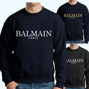 Wholesale Mens Sweatshirts Designer Fashion High Quality Cotton Black Navy Mens Casual Designer Hoodies Size S XL