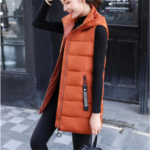 Plus Size Down Vests Woman Down Waistcoat Women Vest Female Oversized Hooded Abajo Chaqueta Lady Winter Slim Long Doudoune