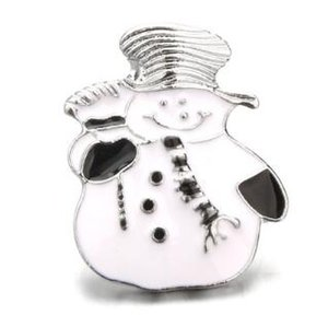Wholesale 2019 new hot sale fashion christmas snowman mm noosa button snap button flag pendant rhinestone charm diy jewelry drop shipping