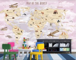Wholesale papel de parede Custom wallpaper cartoon background wall home decoration wall papers home decor d mural