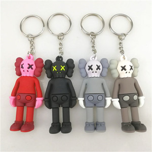 7CM KAWS BFF Keychain Trend doll Brian Street Art PVC Action Figure Limited Version Collection Model Toy Gift Straps Charms No Box