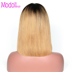 Wholesale chinese bangs bob hairstyles for sale - Group buy Bob Lace Ombre Wig Lace Front Human Hair Wigs With Bangs Peruvian Remy Hair Pre Plucked blonde Bob Wig Natural Black dhgate
