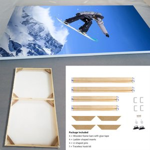 Wholesale Natural Wooden Diy For Canvas Painting Posters Photos Pictures Easy To Assemble Wall Custom Frame Longlife Wood J190716