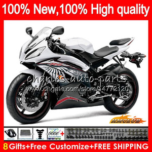 Wholesale r6 silver for sale - Group buy Body For YAMAHA YZF R6 YZF600 YZF R6 NO silver black YZF R CC CC YZF YZFR6 Fairings
