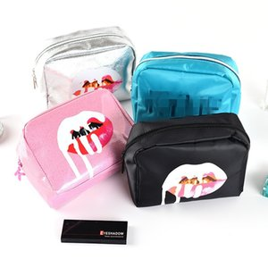 Wholesale Women Travel Cosmetic Bag Portable Zipper Lip Make Up Bags Girl Makeup Case Beauty Wash Organizer Toiletry Storage Bag