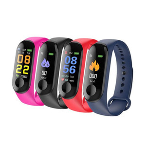 Wholesale M3 Smart Band Blood Pressure Fitness Tracker Pedometer Heart Rate Monitor Smart Bracelet Wristband For IOS Android Phone