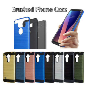 Armor Phone Case For iPhone XS XR XS Max Samsung Galaxy S10 S10E S10 Plus J4 Core Brushed Dual Layered Shockproof CoverD