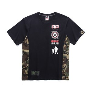 Wholesale Aape Undefeated Mens Designer T Shirt Men Women Couple High Quality Short Sleeves Mens Designer Ape Printing T Shirt Black Green