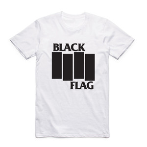 Fashion Men Print Black Flag T-shirt With Short Sleeve O-Neck Summer Band Casual Top Tee Tshirt