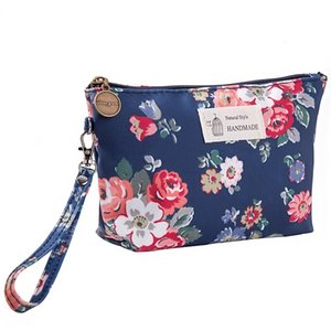 Wholesale PACGOTH New Simple Women Cosmetic Bag Flower Butterfly Pattern Toiletry Beauty Kit Organizer Bag Key Card Earphone With Zipper