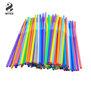 Wholesale bendable plastic for sale - Group buy 100pcs Multicolor Plastic Bendable Drinking Straws Disposable Beverage Straws Wedding Decor Bar Cocktail Juice Drinking Supplies
