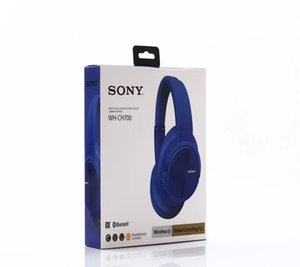 Wholesale FASHION New sony WH CH700 Wireless Headphone Bluetooth Earphone Headset For Ear Head Phone SONY iPhone Xiaomi Huawei Earbuds Earpiece