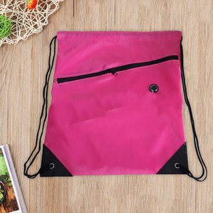 Wholesale 9 Colors Portable Waterproof Nylon Shoe Bags Drawstring Dust Backpacks Storage Pouch Outdoor Travel Sports Storage Gym Bags
