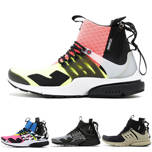 Wholesale Discount Acronym x Presto Mid designer sneaker trainer new men best quality graffiti sock shoes womens black white fashion WINTER boots