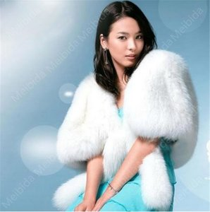 Wholesale Bride Wedding Jacket White Ivory Artificial Rabbit Hair Jacket Shawl American Fashion Week Entry Products